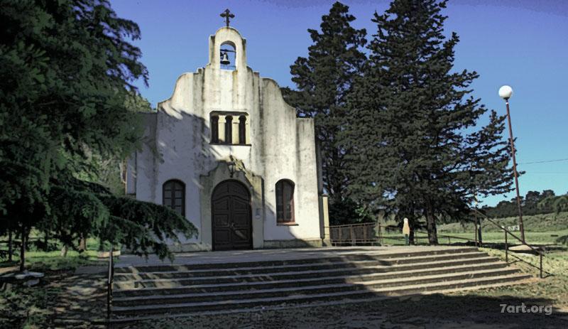 Iglesia en la Sierra de la Ventana