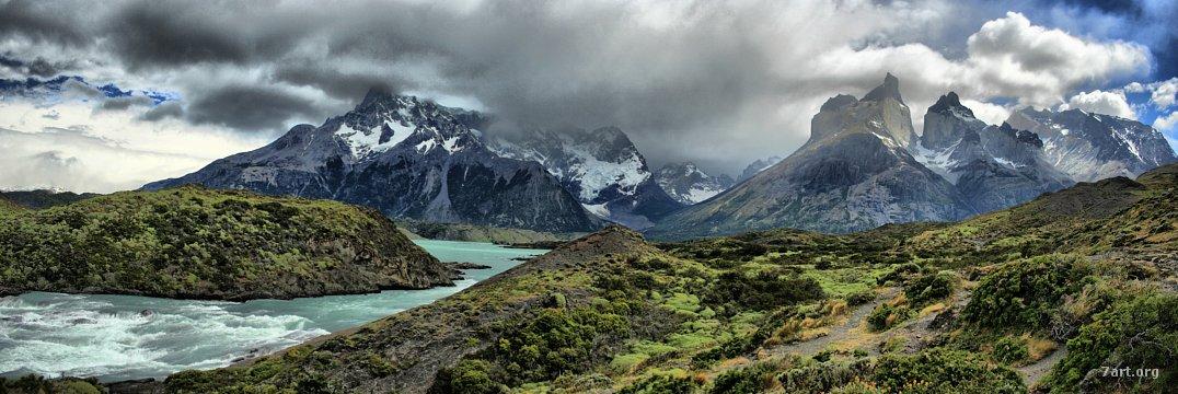 Paine – Enésimo panorama, con río