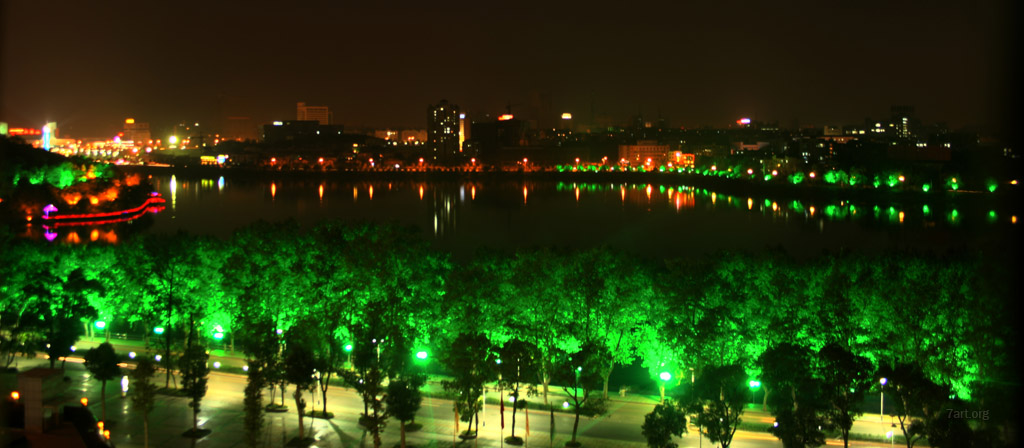 Jiujang at night